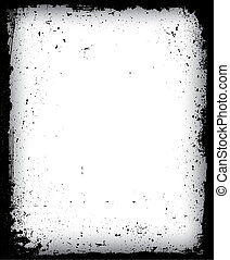 Black grunge frame isolated. Vector illustration