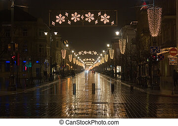 Christmas city, Vilnius, Lithuania