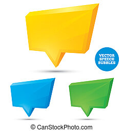 Colorful 3d speech bubbles. Illustration.