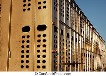 Livestock Trucking - Trailer designed for load of animals...