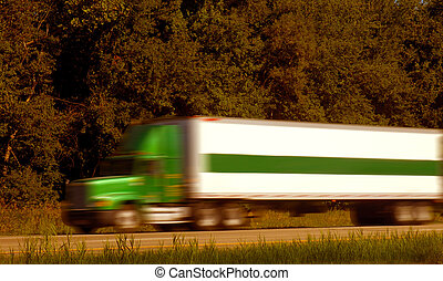 Semi Trucks on Freeway - Highway with semi truck in route to...