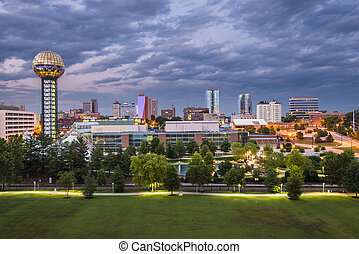 Knoxville Tennessee - Knoxville, Tennessee downtown skyline.