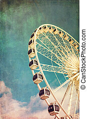 Ferris wheel retro - Retro style image of a ferris wheel...