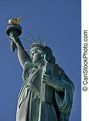 Statue of Liberty - Statue of Liberty on the Hudson River in...