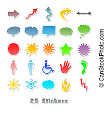 25 different stickers for your design