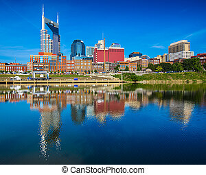 Nashville Tennessee - Nashville, Tennessee downtown skyline...
