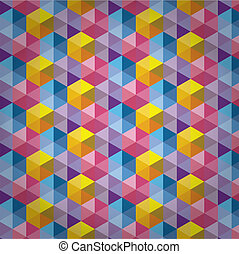Triangle Pattern, Background, Texture Vector Hexagon
