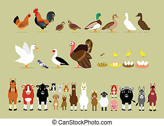 Cartoon Farm Characters Part 2 - Cute Cartoon Farm Animal...