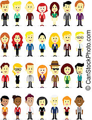 Business Man and Woman - Cute Businessperson characters Man...
