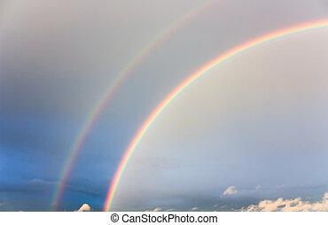 sky and a rainbow