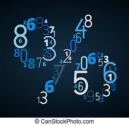 Pecent sign vector font from numbers - Percent sign from...