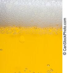 Cerveja, espuma, fundo