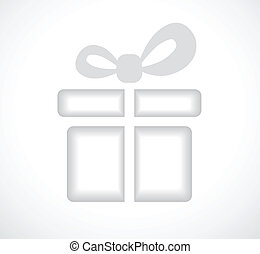 Silhouette of a gift box with a bow.