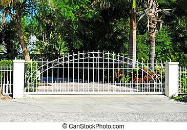 segurança, portão