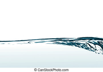water wave - wave of fresh and clear water on white...