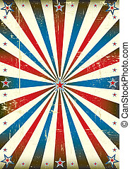 Patriotic sunbeam vintage backgroun - A vintage poster with...