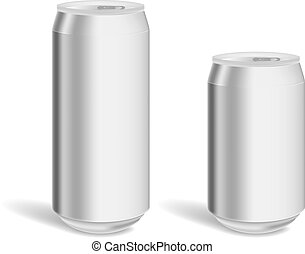 Two blank aluminum cans for product mockup