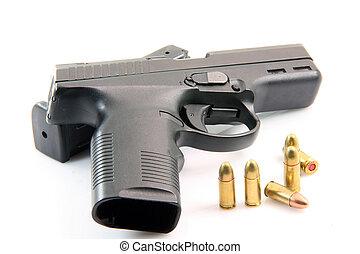 ammo and handgun