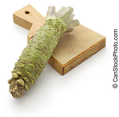 wasabi and shark skin grater - Japanese condiment for sushi...