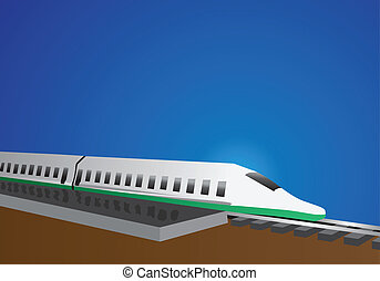 bullet train - high speed bullet train sitting at the...