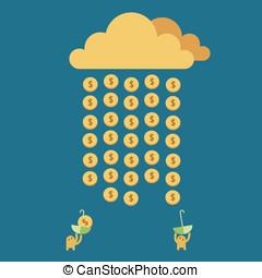 Money Rain. Time to Rich. - Season that can make money.