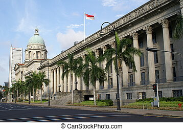 Singapore City Hall - Singapore's iconic landmark - the City...