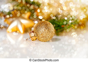 Christmas decoration on abstract background - Christmas...