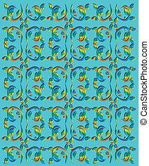 rainbow swirl texture vector art