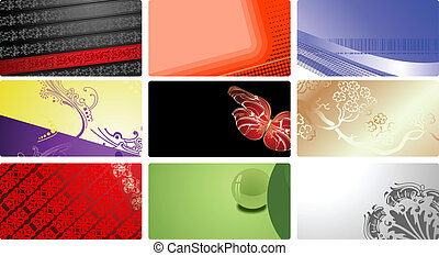 Nine Glamour Fashion Business Cards. More In My Portfolio. Vector Illustration.