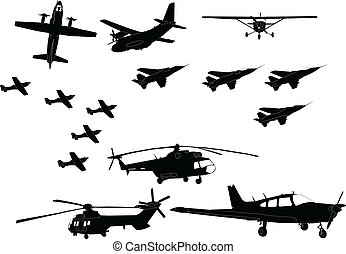 aircraft collection - vector - illustration of aircraft...