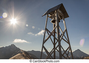 Bell tower on Kasprowy Wierch - Tatras Mountains - Sunny...