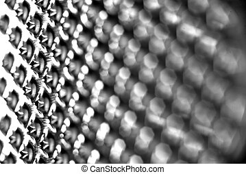 close-up of a food grater