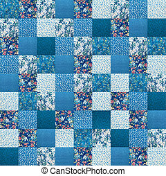 ?razy quilt	 - Fabric texture with pattern close up