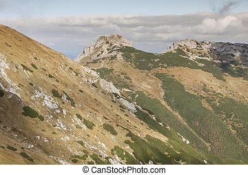 View from Kondracka Kopa to Giewont - Tatras Mountains...