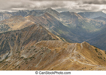 View from Malolaczniak - Tatras MountainsAutumn day - View...