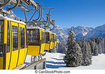Winter in alps - Winter in the swiss alps, Switzerland