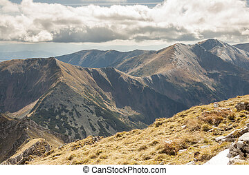 View from Ciemniak - Tatras Mountains Autumn day - View from...