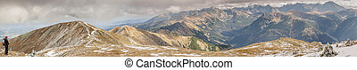Panoramic view from Malolaczniak - Tatras Mounatins -...