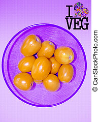Tomato, Lycopersicon esculentum, Go Veg, Concept