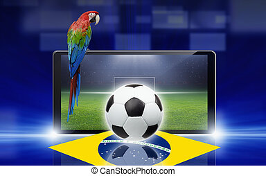 Soccer video game, brazil parrot - Technology, sports...