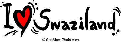 Swaziland love - Creative design of Swaziland love