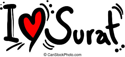 Surat love - Creative design of surat love