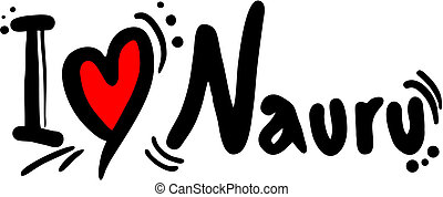 Nauru love - Creative design of Nauru love