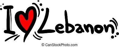 Lebanon love - Creative design of lebanon love