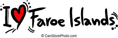 Love Faroe islands - Creative design of love faroe islands