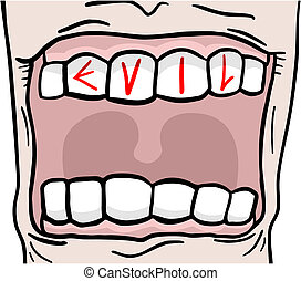 Evil mouth - Creative design of evil mouth