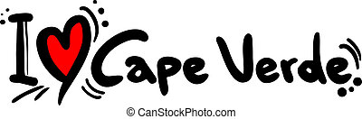 Cape Verde love - Creative design of Cape Verde love