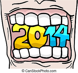 2014 mouth - Creative design of 2014 mouth