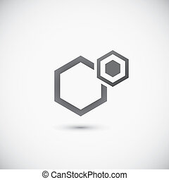 Molecular structure Abstract technology and business icon
