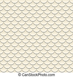 Abstract geometrical seamless pattern with beige fish scale